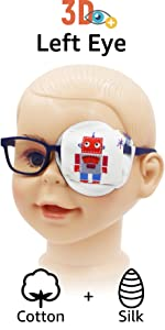 kids eye patches boys red obot
