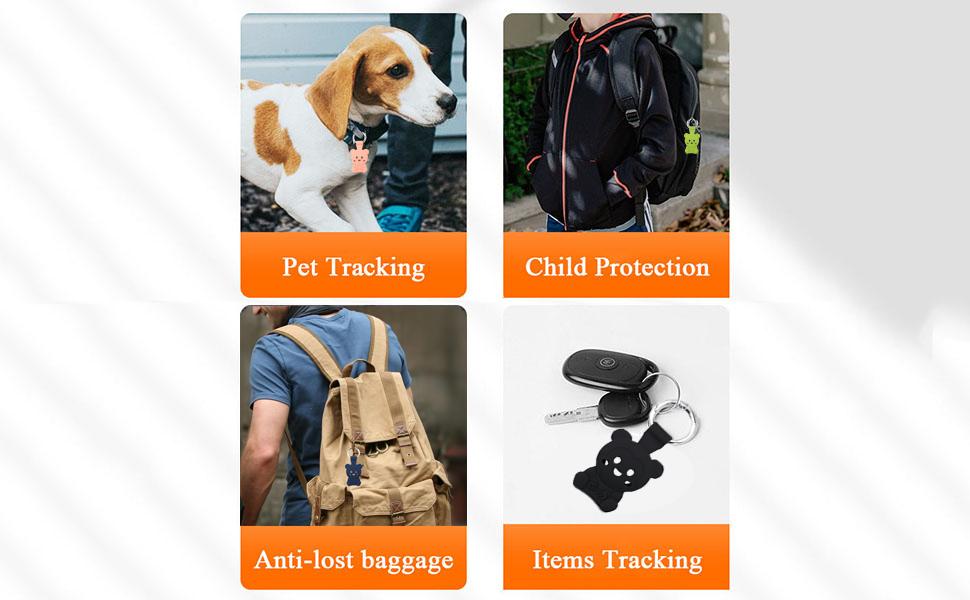 Pet Tracking, Child Protection, Anti-Lost Backpack or Handbag, Item Finder