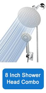 8 Inch Shower Head Combo