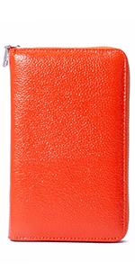 Multifunctional wallet, orange