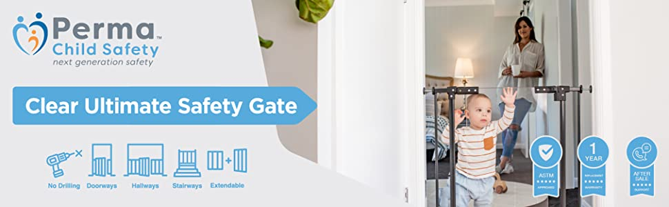 Perma Child Safety Clear Ultimate Safety Gate