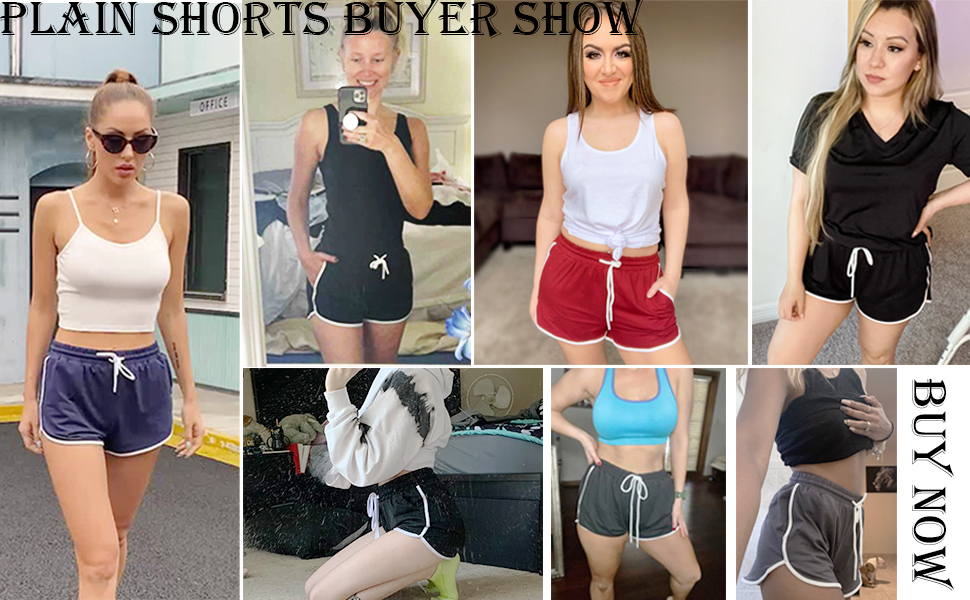 womens shorts solid color workout shorts summer athletic shorts