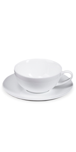 JGSXBVR Latte Coffee Cup and Saucer