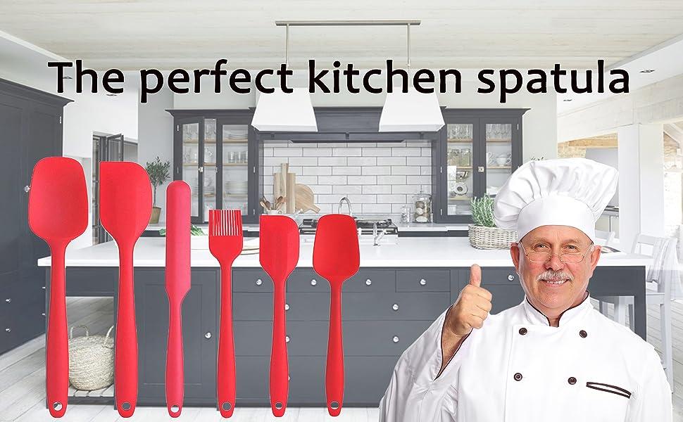 Heat-resistant spatula