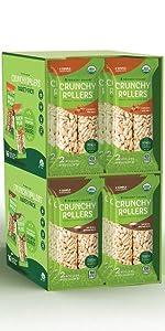 Friendly Grains Crunchy Rollers Costco Variety Pack. Allergen Friendly snacks.