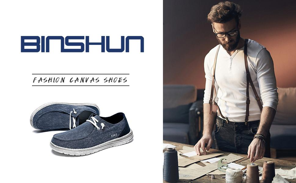 Men's Slip on Canvas Shoes Deck Shoes Non Slip Casual Loafer Flat Boat Shoes