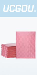 light pink bubble mailers
