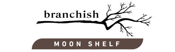 branchish logo , moon shelf