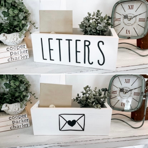 Double Sided White Mail Holder
