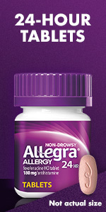 OTC fast-acting allergy tablets.