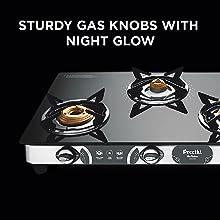 Preethi Blu Flame Glass Top 4 Burner Gas Stove, Manual Ignition, Black8