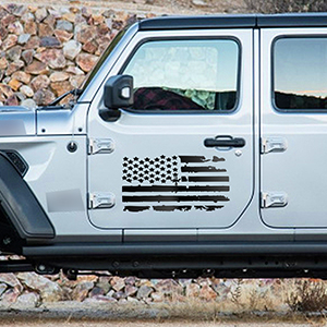 TOMALL 23.6amp;#39;amp;#39; American Flag Distressed Decal for Auto Hood USA Flag Stripe Graphic Vinyl