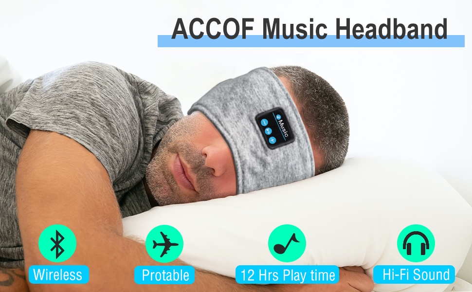 ACCOF Bluetooth Sleep Earphone
