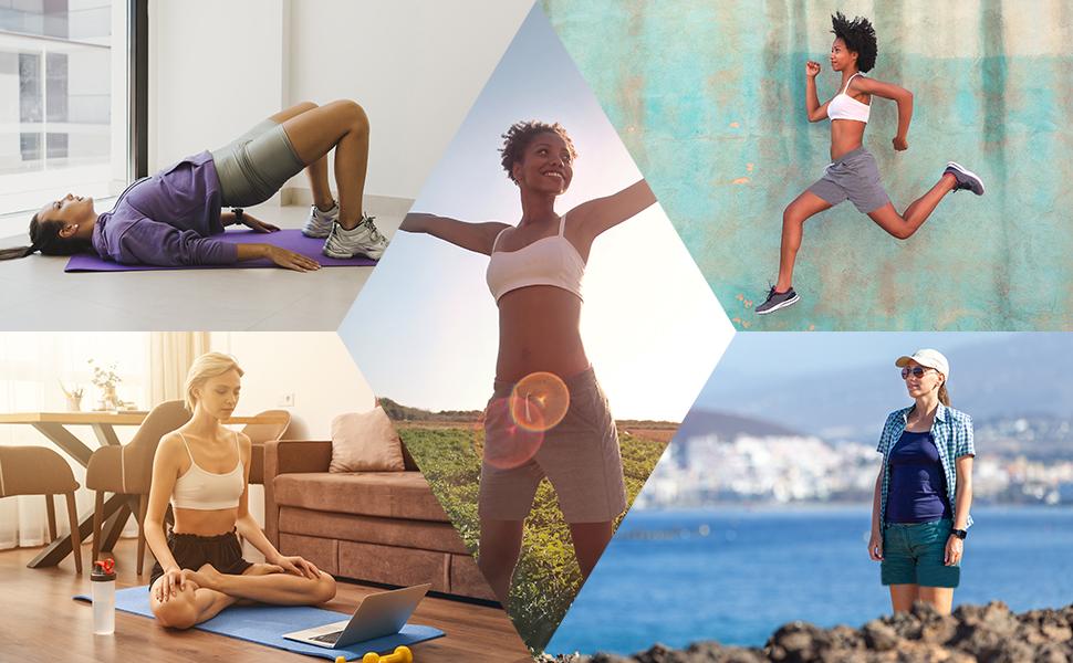 hiking workout yoga sweat