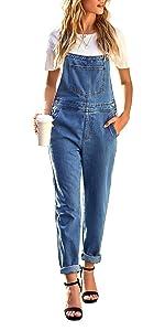 women long denim overalls