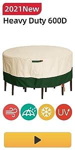 Umbrauto Patio Rectangle Furniture Set Cover