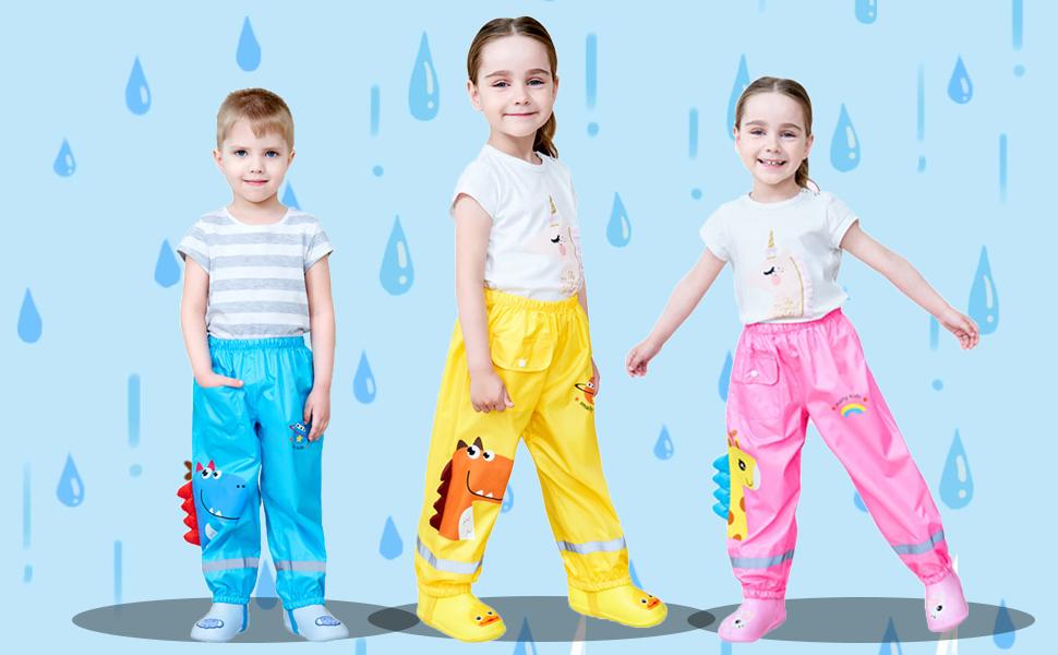 pantalones de lluvia niños