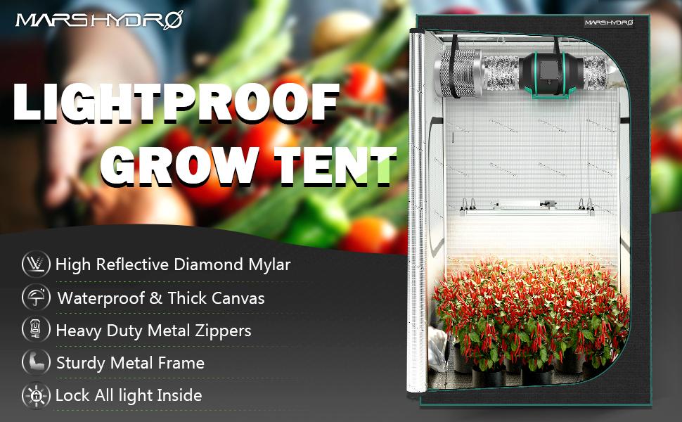 Lightproof grow tent