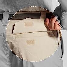 Rear velcro secured pockets