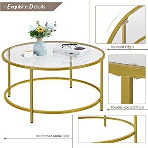 Multi-features of  Round Coffee Table