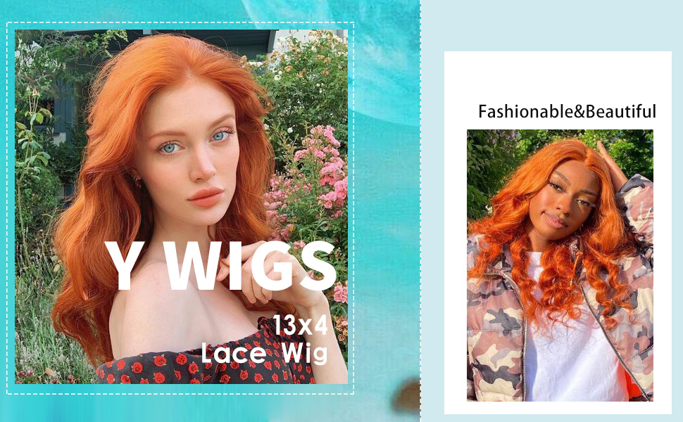 ginger orange lace front wigs human hair