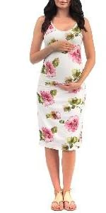 Women's Side Ruched Tank Maternity Dress - Made in USA