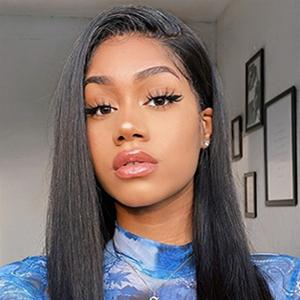 Straight 13x4 human hair lace front wigs