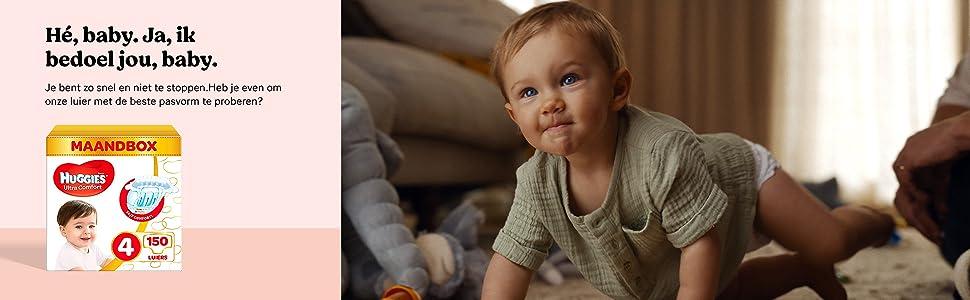 Huggies luiers, luierbroekjes, billendoekjes, baby, absorberend, beschermend, perfecte pasvorm