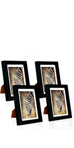 5x7 Black Picture Frame Set of 4