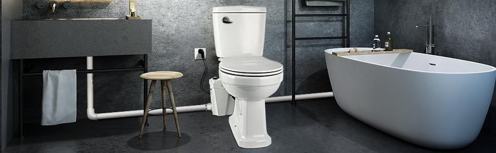 Macerating Toilet 3 piece Set with 500Watt Maerator Pump
