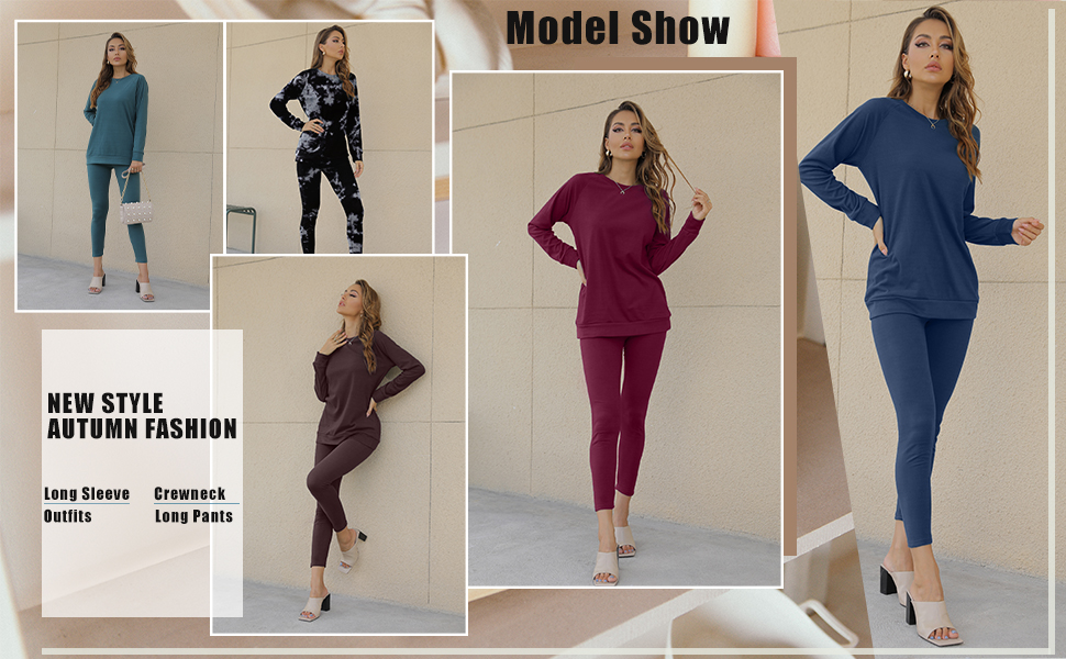 WIHOLL Womens Sweatshirt Model Show