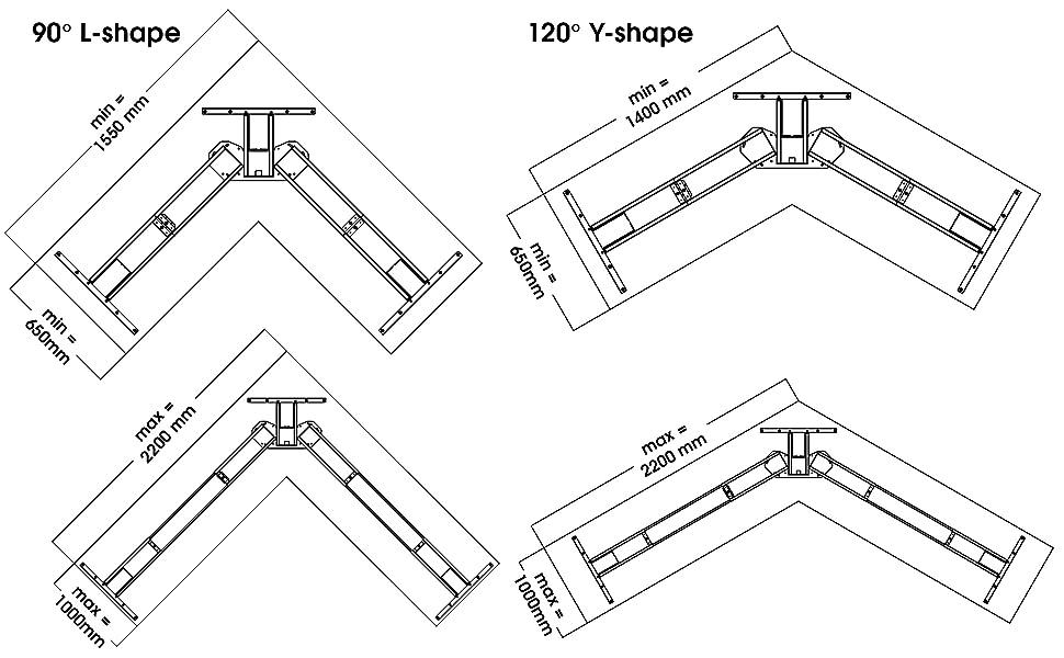 EDF13T compatible top min max size dimension diagram chart