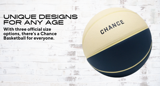 with three official size options, there's a chance basketball for everyone