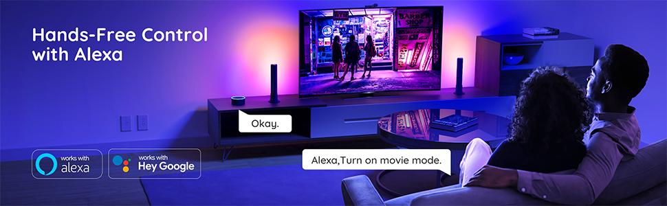 Govee Smart LED Light Bars Music Sync Kit Works with Alexa & Google Assistant