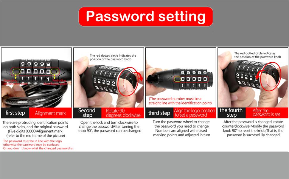 bike lock Instructions