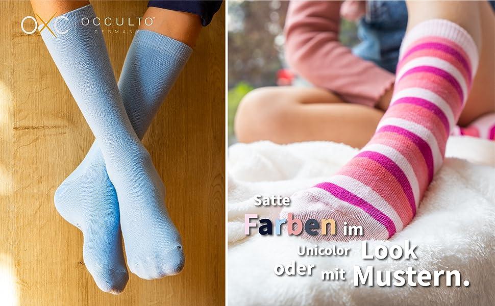Niños con calcetines azul y rosa Occulto