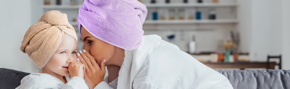 Hair Drying Towels, Hair Wrap Towels, Super Absorbent Microfiber Hair Towel Turban for women kids