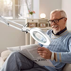 Clamp Magnifier Lamp