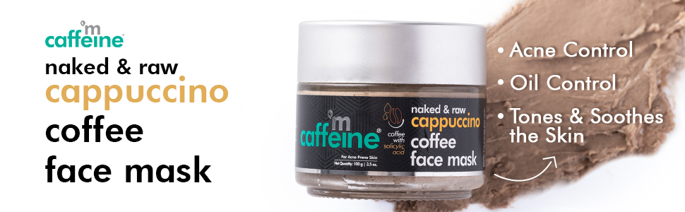 mCaffeine Naked & Raw Cappuccino Coffee Face Mask