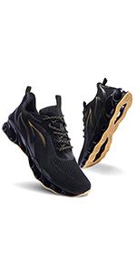 black yellow men shoes