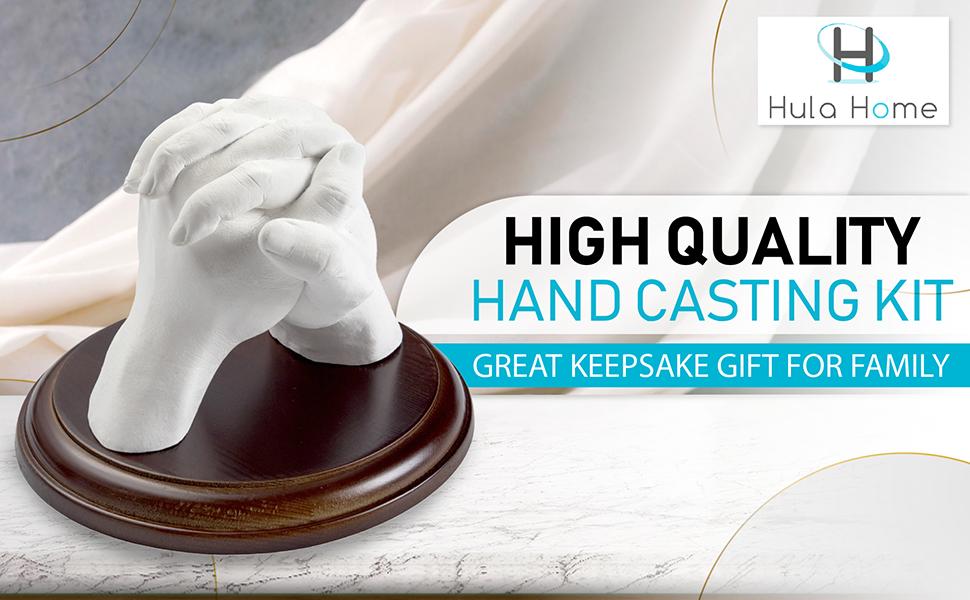 Keepsake Hands Casting Kit | DIY Plaster Statue Molding Kit | Hand Holding Craft for Couples,
