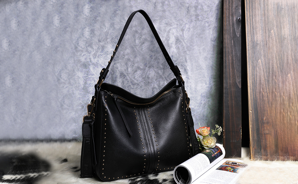 genuine leather concealed compartment