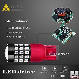 7440 7443 CK LED Signal Brake Tail Lights Bulbs 7443-SRCK 7443-CK