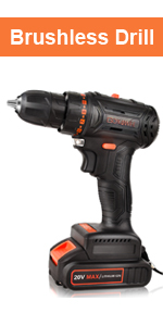 GOXAWEE 20v brushless cordless drill set more powerful