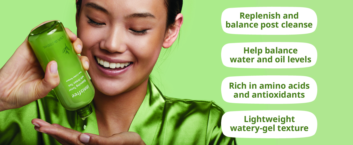innisfree Green Tea Moisture Balancing Toner 3