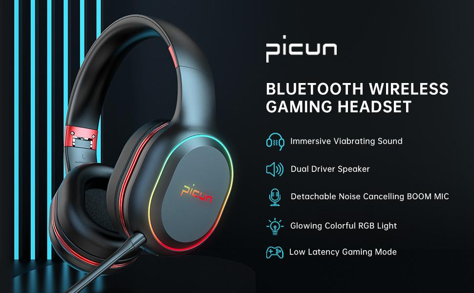 Picun Bluetooth Gaming Headset
