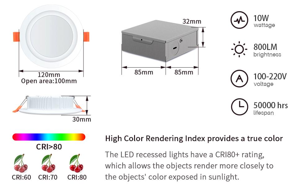 800 lumens & CRI 80+ make object looks like more real