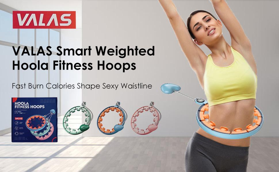 smart weighted hoola fitness hoop fast  burn calories shape sexy waistline