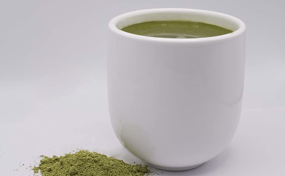 Sencha in a white cup