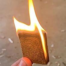 long burn time